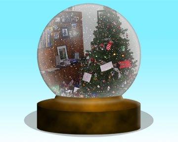 photoshop christmas snowglobe action