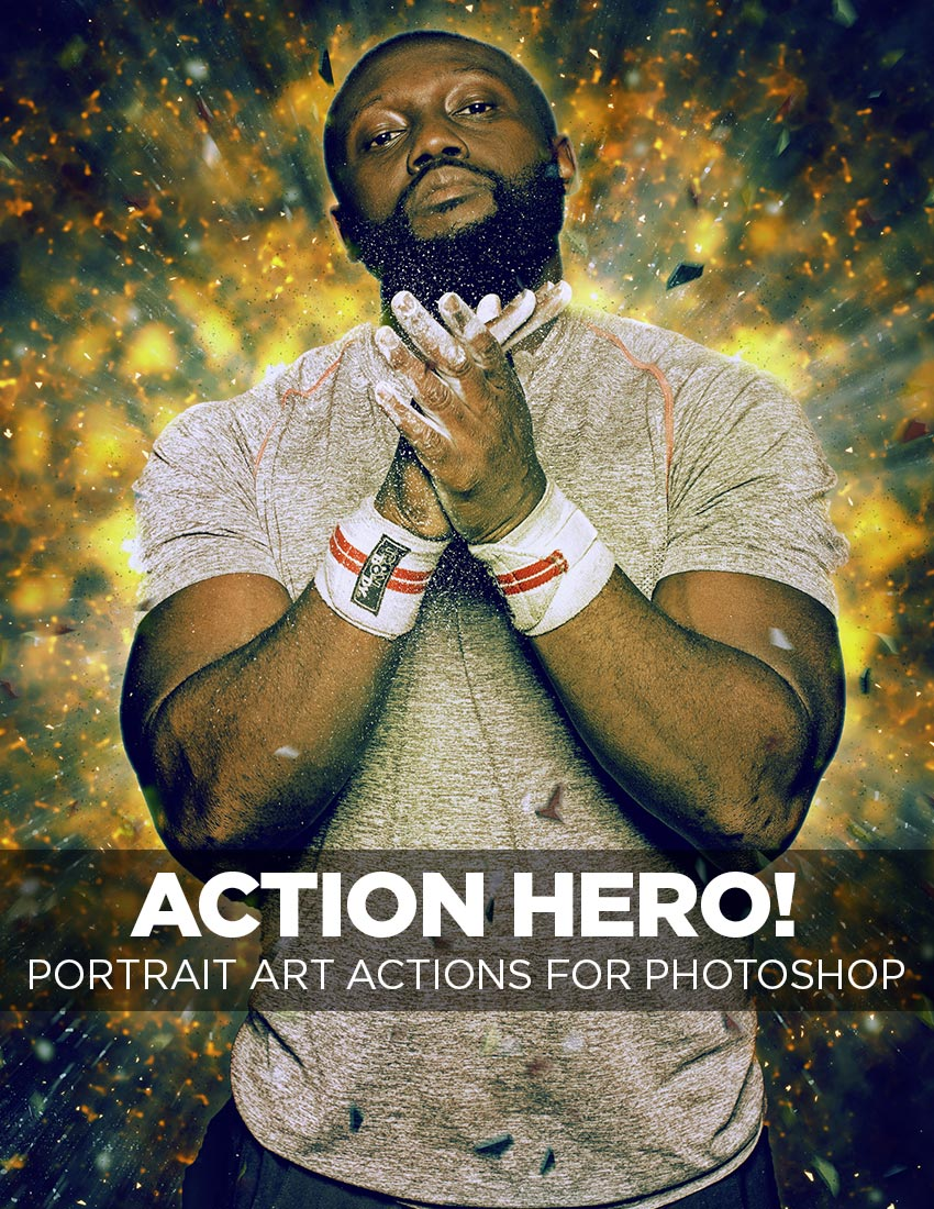 Action Hero Action for Photoshop