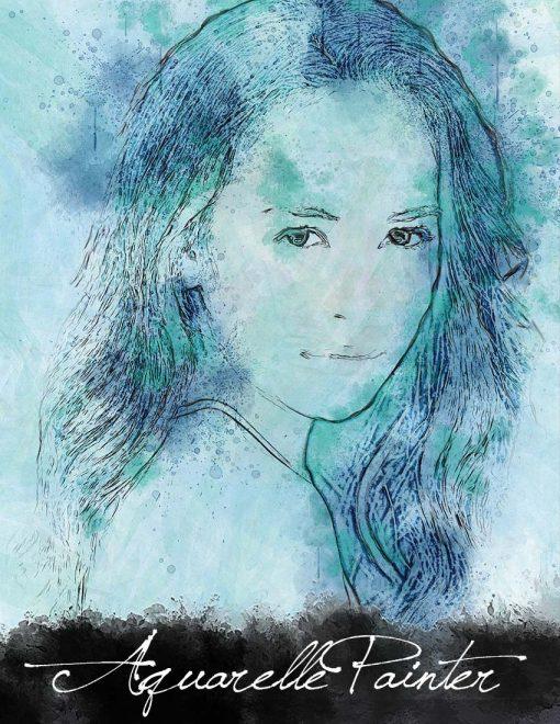 Aquarelle Painter Action for Photoshop